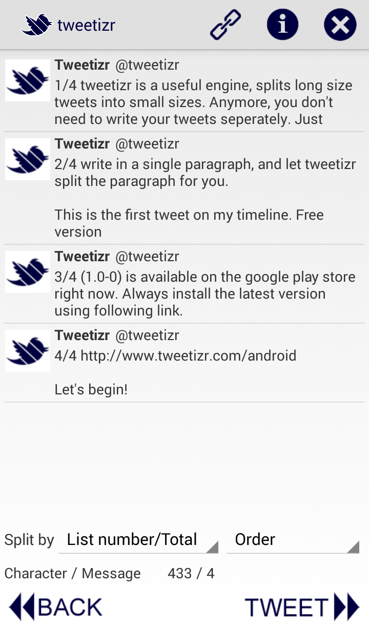 tweetizr screenshot