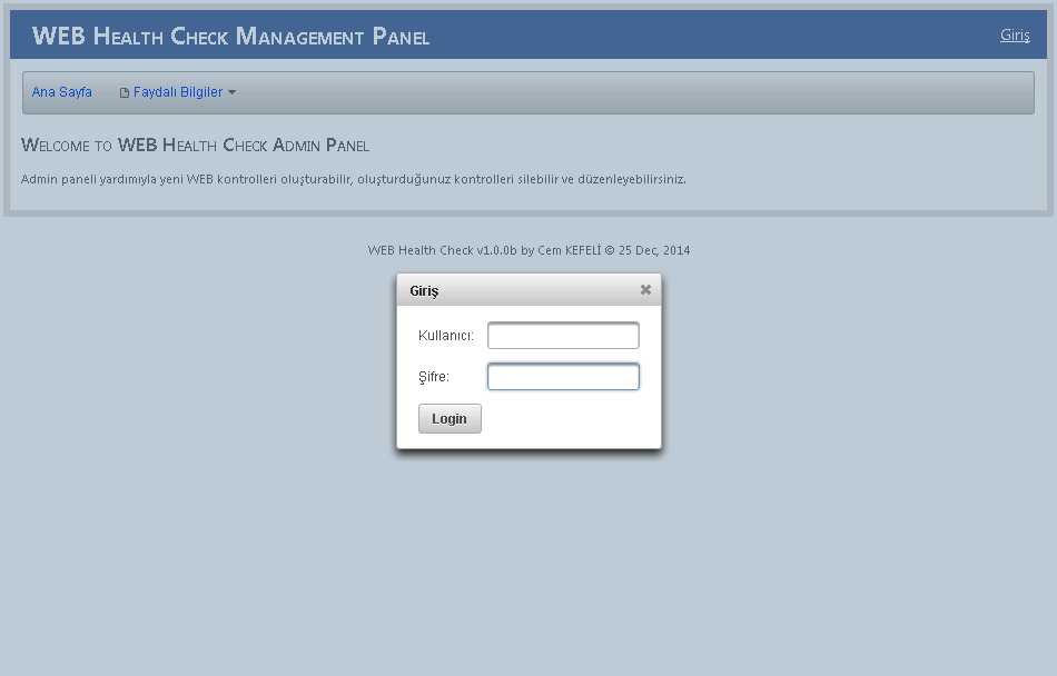 WHC Management Panel (Login)