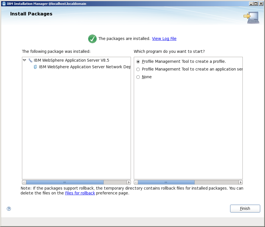 2. Install or deploy web application to WebSphere